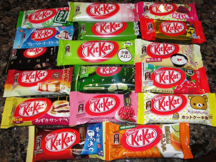 30 Must-Buy Souvenirs at Narita Airport | tsunagu Japan.  As of 3-2016, NRT stores only had about 8 varieties of Kit Kats.