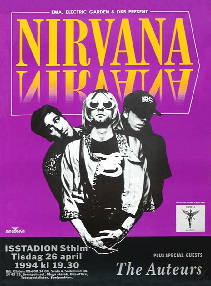 Nirvana Live Cleveland Reprint 11 x 17 High Quality Poster