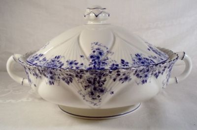 Shelley Dainty Blue Round Covered Vegetable Bowl $925.00 Canadian