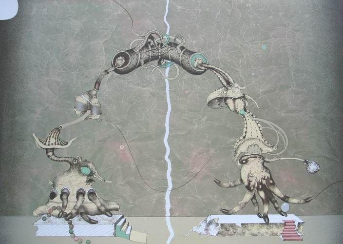 Graspingness III (1995), Vladimír Gažovič, #abstract #art