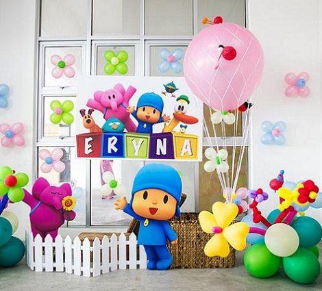 fiesta de cumpleaños globos