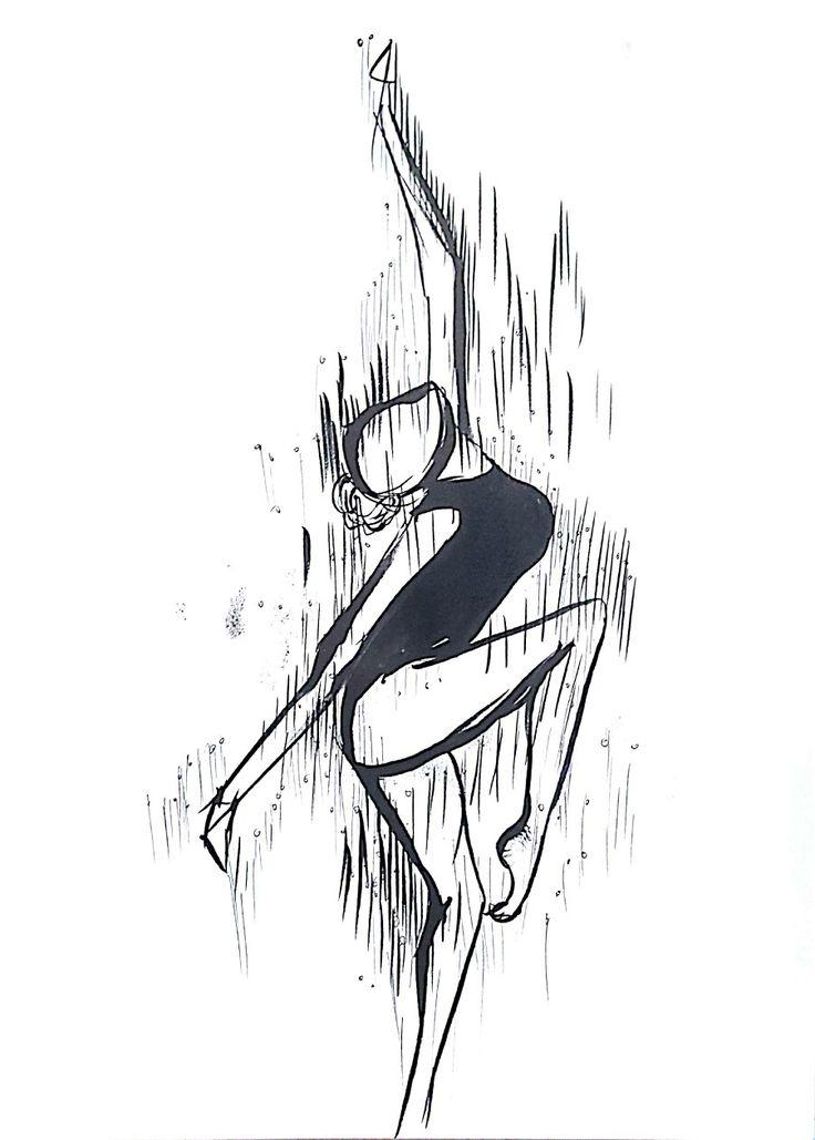 춤추는 여인의 모습과 움직임의 잔상을 표현하였습니다.