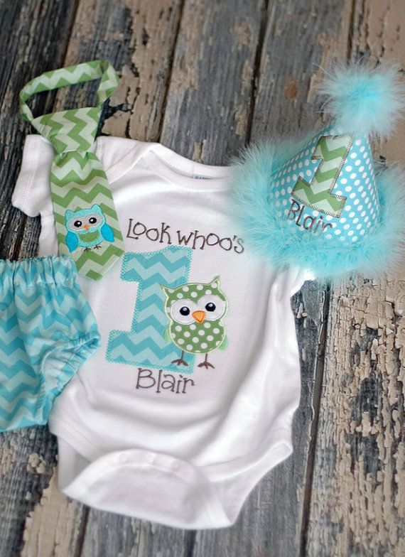 Look Whos Whoos One Owl Birthday TShirt by freshsqueezedbaby, $27.00