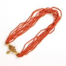 VICTORIAN CORAL & GOLD NECKLACE