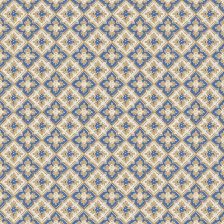 Tredje stora bilden av tapetern Edvin Blå