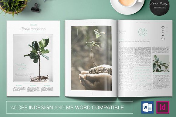 Floral Magazine by Kahuna Design on @creativemarket