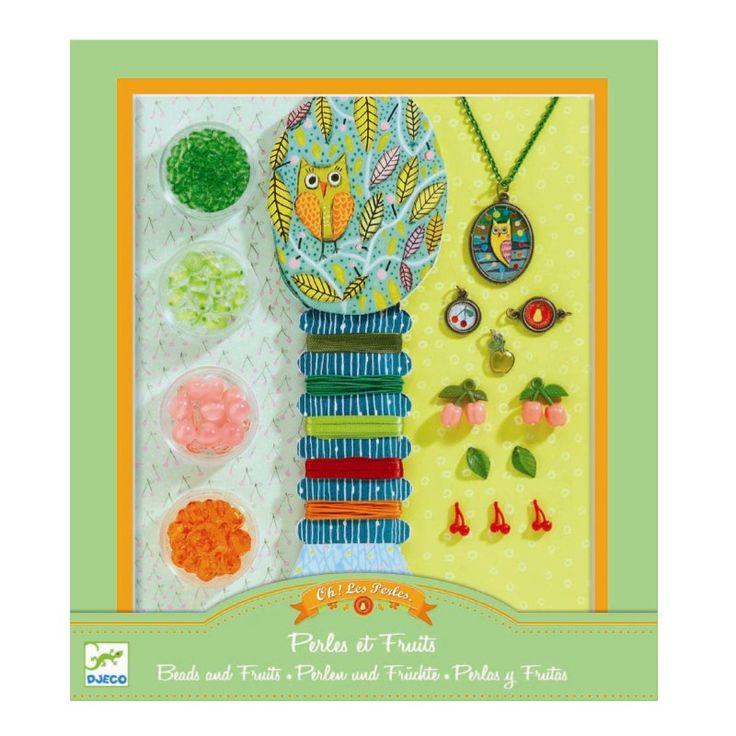 Djeco Kreativset Schmuck basteln Set Perlen und Früchte - Bonuspunkte sammeln, Kauf auf Rechnung, DHL Blitzlieferung!