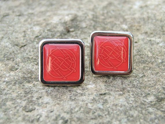 Celtic 'CORAL'  Cuff Links