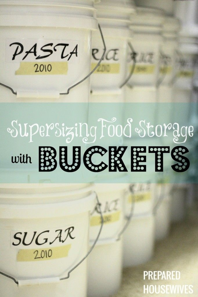 Supersizing Food Storage with BUCKETS | Prepared Housewives