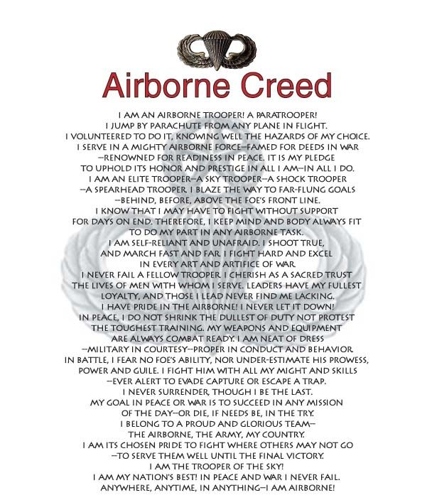 Airborne Creed- my Dad - 101st Airborne!!
