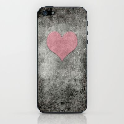 Valentines Grunge Love in Opal Pink iPhone & iPod Skin by Bruce Stanfield - $15.00