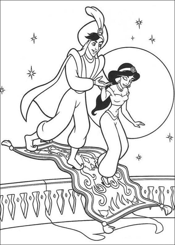 36 Disegni Della Principessa Jasmine E Aladdin Da Colorare Album