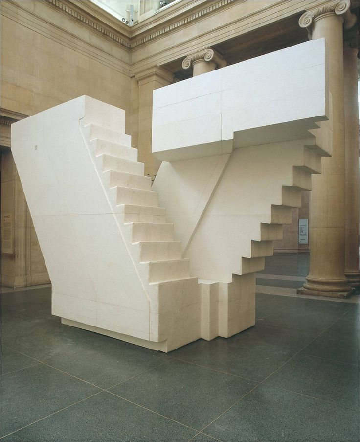 Rachel Whiteread , Untitled (Stairs) , 2001, Polymere reinforced plaster / Fibreglass and wood, Tate.