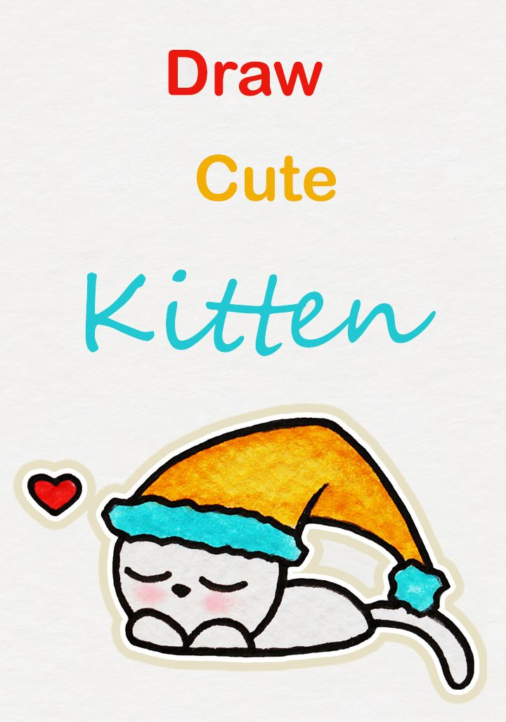 Learn How To Draw So Cute Sleepy Kitten, Easy Step By Step