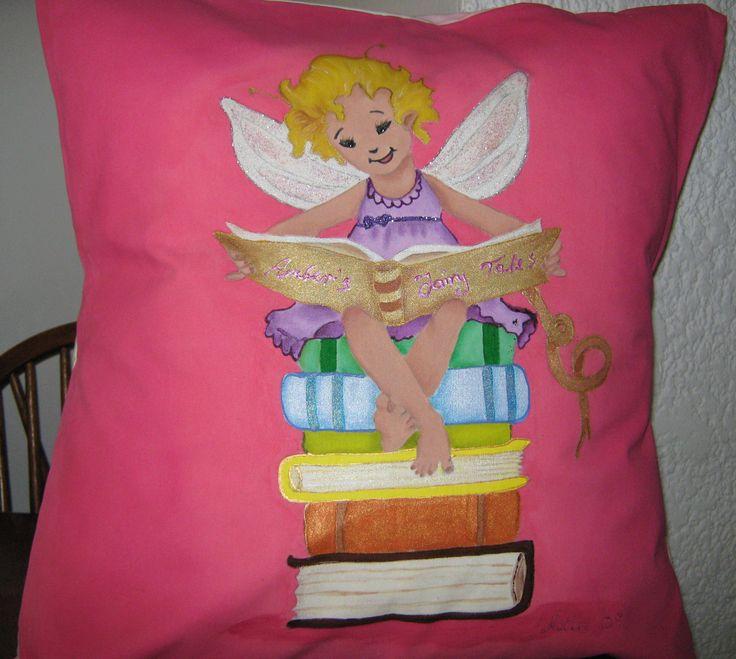 Fairy on Books cushion