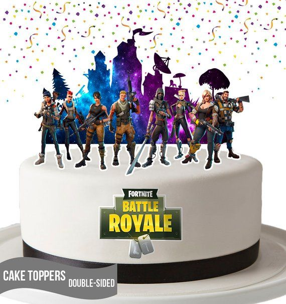 Fortgame Cake Toppers Centerpiece Printable This Is Listing Is For A Fortnite Cake Topper You Print You Will G In 2020 Cake Toppers Birthday Party Printables Cake