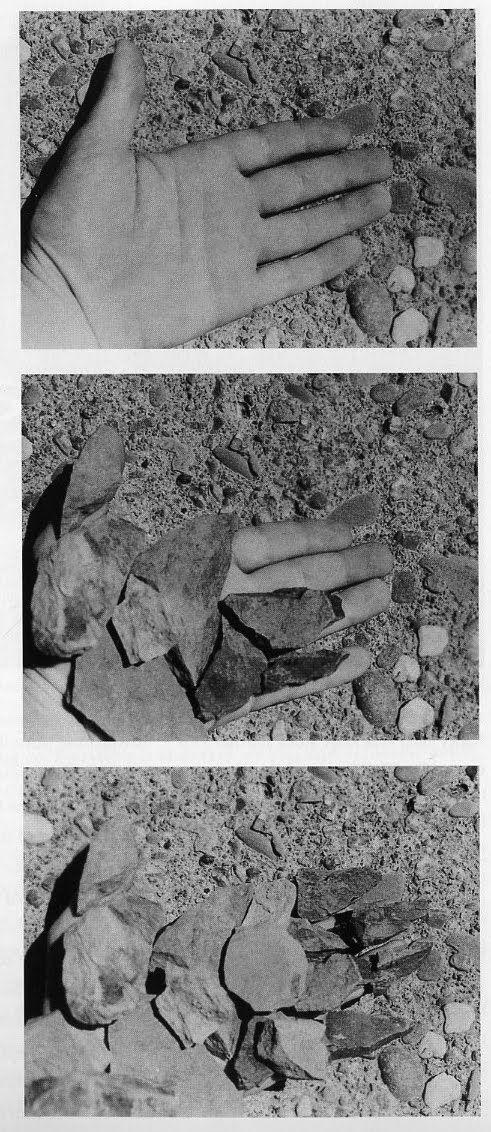 'Rocked hand' (1970) by Dennis Oppenheim /Via http://pietmondriaan.com/2012/04/08/dennis-