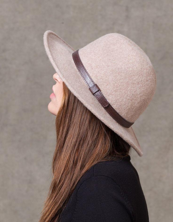 Chapeau Fédora feutre de laine - BONNETS ET CHAPEAUX - FEMME | Stradivarius France