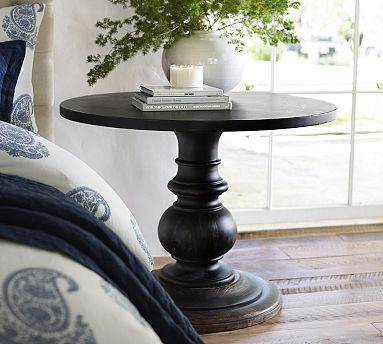 Dawson Pedestal Side Table. this look for a side table in the great room.