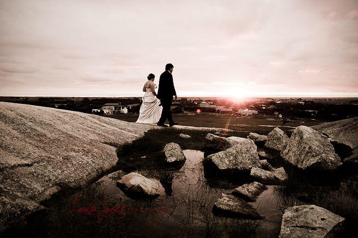 Wedding in Geelong, taken at sunset in Batesford