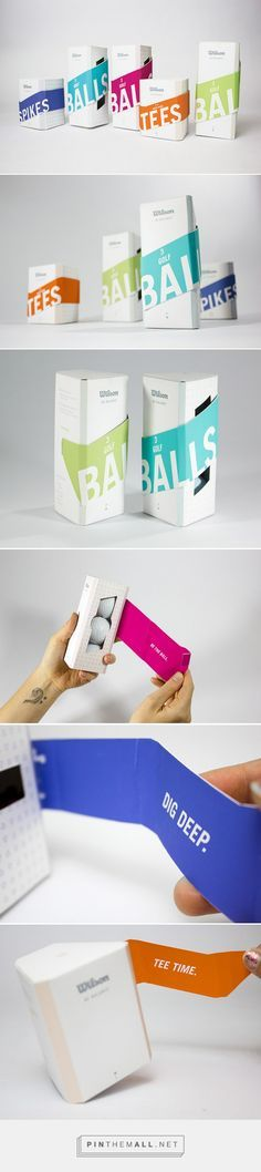 Wilson Golf package line designed by Meli Genao. Pin curated by #SFields99 #packaging #design