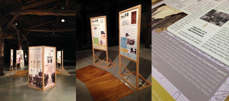 Maquette et exe pour l'Atelier W110 - Exposition itinérante sur la guerre 14-18 vécue par la ville de Confolens © 2014