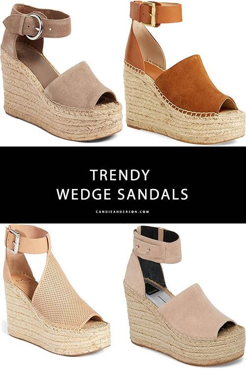 0d4a6937612b The trendiest wedge sandals for spring and summer 2018.