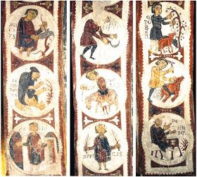 """"""" Santa Cruz de Maderuelo """", Segovia. Ahora se encuentran en el Museo del Prado en Madrid. Son de estilo Italo-Bizantino. Algunos piensan q..."""