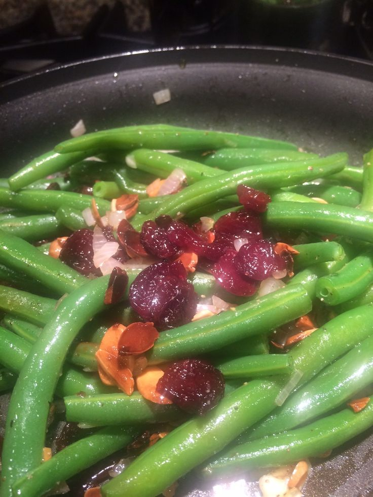 Green Beans and cherries