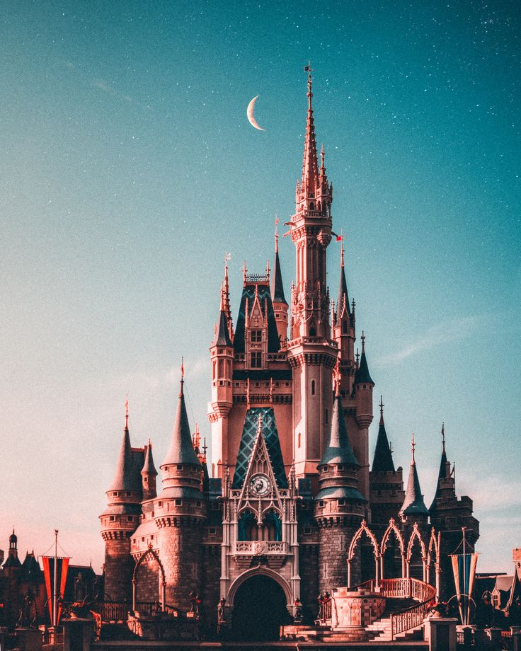 blue and beige Disneyland castle photo Free Spire Image