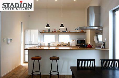 家族や友人と楽しく会話しながらお料理を.. 対面式のキッチンはスタディオンでも人気のキッチン http://www.stadion.co.jp/