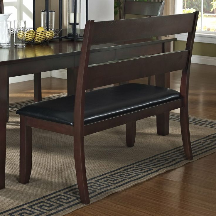 Banquette Bench Kitchen Table With Benches Urban Styles Furniture 2814 Skyline Backrest At ...