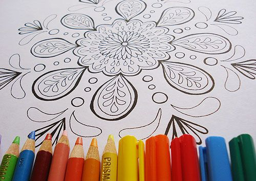 one of the mandalas in my ebook of mandala coloring pages http - Html Color Sheet