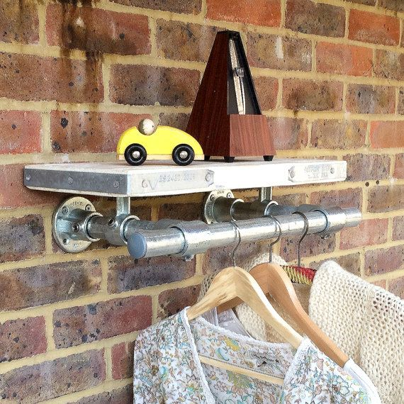 Industrial Style Wall Mounted Shelf in Scaffold by RatAndPallet