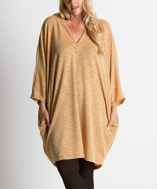 Mustard Dolman Tunic - Plus