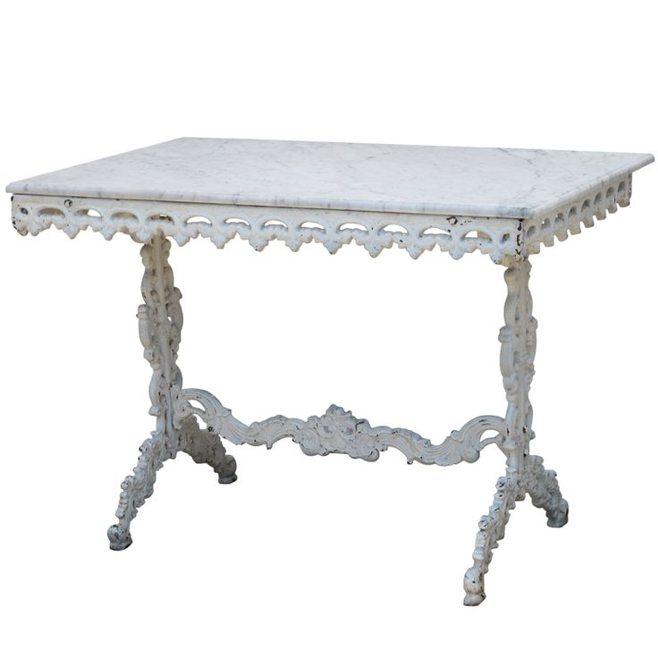 Elegant Cast Iron Table With Marble Top Nice Ideas