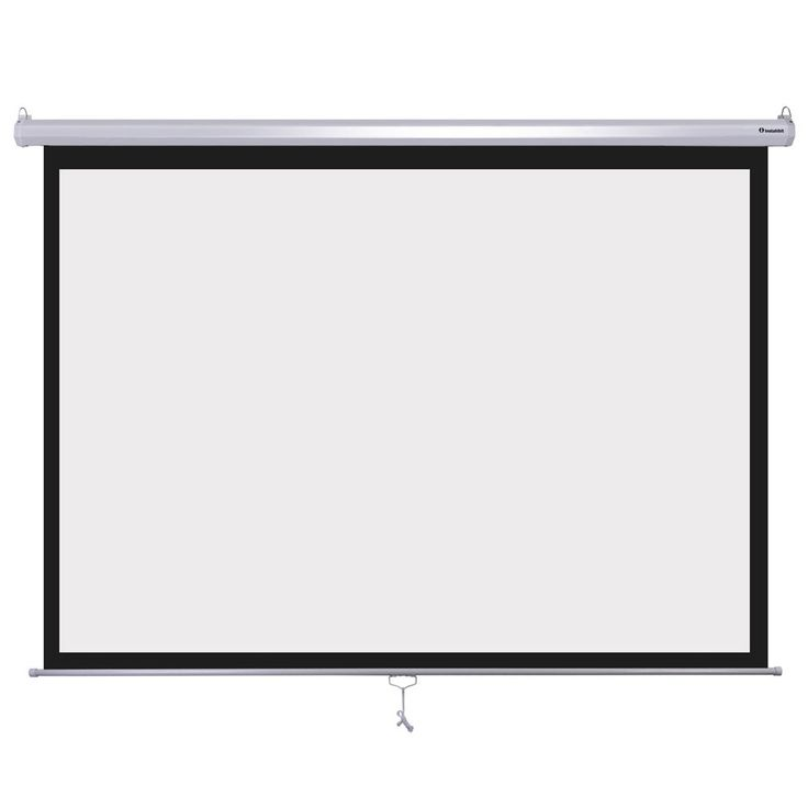 "Instahibit 72inches Diagonal 4:3 Manual Pull Down Projection Screen Matte 57"" x 43"" White"