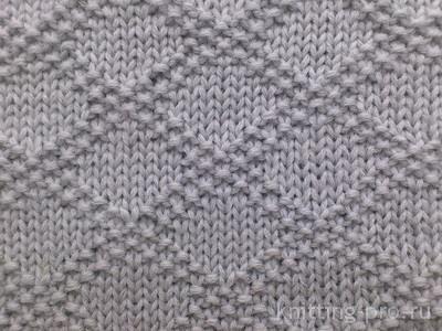 Теневые узоры спицами для свитера