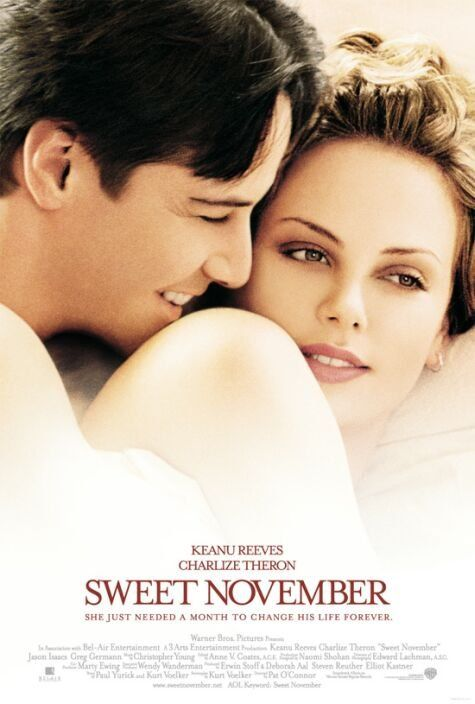Sweet November  Rated PG-13   6.6     Nelson is a man devoted to his advertising career in San Francisco. One day, while taking a driving test at the DMV, he meets Sara. She is v...