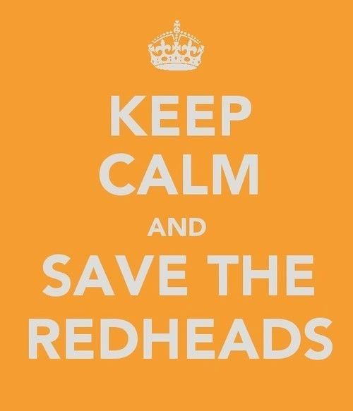 I used to be a redhead - you know!    ~Ha ha for my Red headed friends and family!!