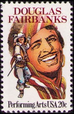 В 1984 году Почтовая служба США в память о  100-летнем юбилее со дня рождения одного из популярнейших американских артистов времен немого кино выпустила марку «Дуглас Фэрбенкс» (Douglas Fairbanks)