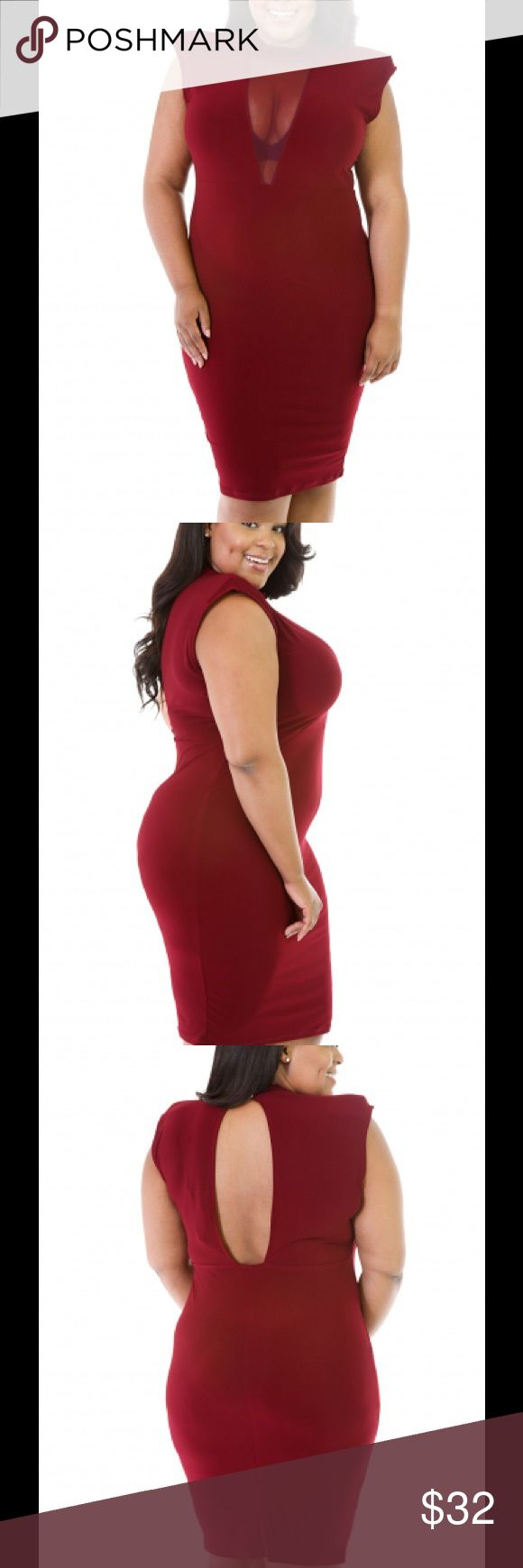 Sexy Merlot Dress Plus Size 1X and 3X Cute Merlot colored dress.  Great for a night out on the town! Dresses
