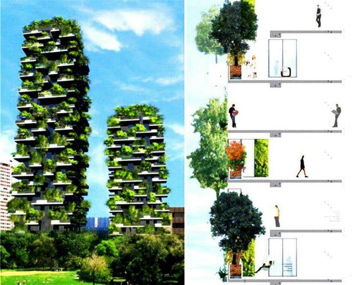 El bosque vertical creacion de Boeri studio Milán