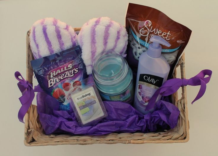 #DIY gift basket for the elderly - great #ValentinesDay option.