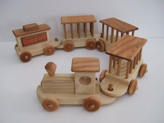 Wooden Toy Circus Train by MountainViewToys on Etsy, $75.00