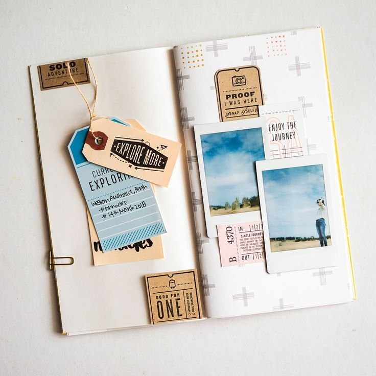 Big picture classes not your typical selfie: memory keeping Travel Journal Scrapbook, Travel Journal Pages, Bullet Journal Travel, Travel Journals, Album Journal, Journal Paper, Memory Journal, Journal Layout, Journal Prompts
