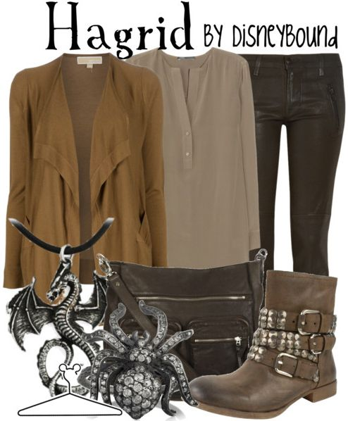 """Click through for [currently] 193 tags """"Harry Potter"""" on the DisneyBound fashion blog -- includes outfits inspired by practically everyone and everything you can think of in the series, including a howler and a snitch!"""