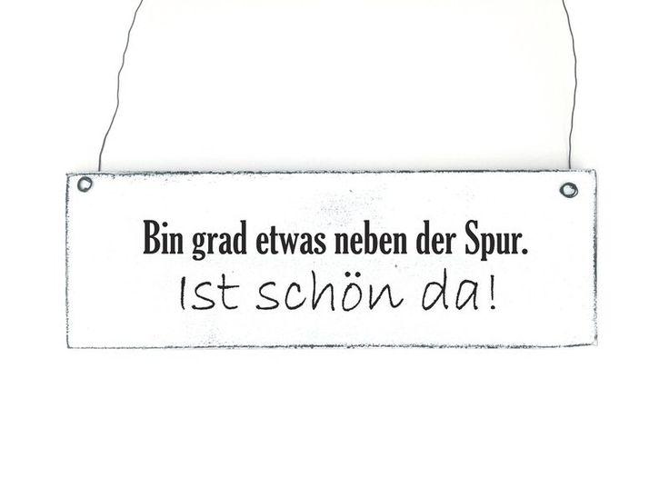 Dekoschild NEBEN DER SPUR Holzschild Vintage von DÖRPKIND auf www.doerpkind.de