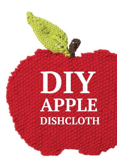 Create a fun, knit back to school Apple Dishcloth for your kitchen! Get everything you need right @ joann.com