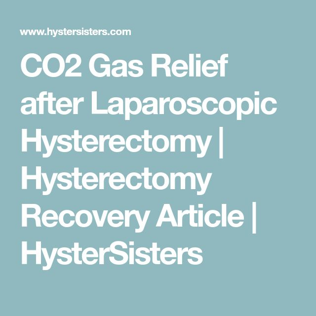 CO2 Gas Relief after Laparoscopic Hysterectomy | Hysterectomy Recovery Article | HysterSisters